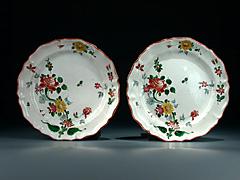 Paar Fayence-Teller