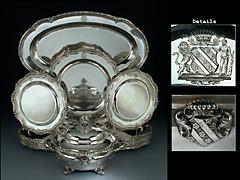 Bedeutendes Silber-Tafelservice des preussischen Königshauses