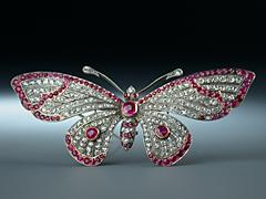 Seltene Schmetterlingsbrosche
