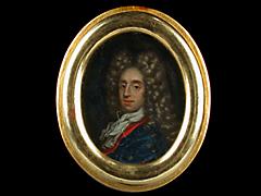 Portraitminiatur eines Adeligen