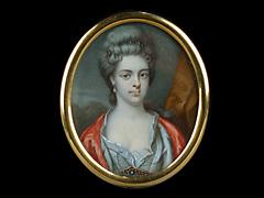 Portraitminiatur einer Dame