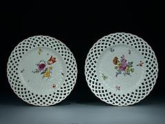 Zwei Frankenthaler Porzellanteller