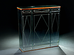 venezianischer art deco spiegel barschrank auction. Black Bedroom Furniture Sets. Home Design Ideas