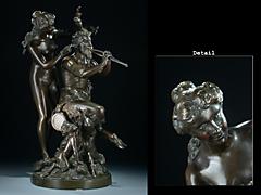 Detailabbildung: Faun und Nymphe