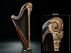 Seltene Louis XVI-Harfe
