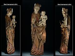 Selten feine gotische Madonna mit dem Kind