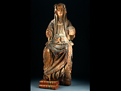 Gotische Skulptur der Brigitta von Zweden