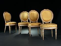Vier Louis XVI-Stühle
