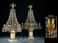 Paar russische Girandolen
