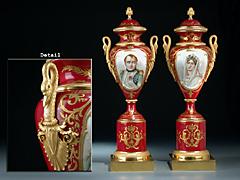 Paar Sèvres Vasen