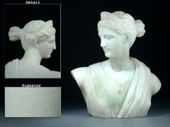 Marmorbüste der Diana