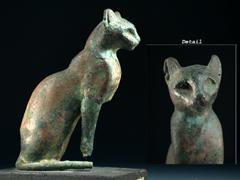 Bronze-Katze