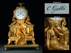 Feine französische Empire-Uhr des Meisters C. Gallé