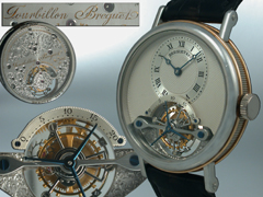 Breguet Tourbillon-Herrenarmbanduhr der Classique-Collection mit Tourbillon. No. 004. Präsentationsbox