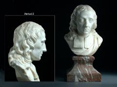 Marmorbüste des John Milton