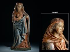 Feine Skulptur einer Heiligen