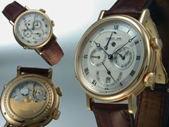 """Breguet Herren-Wecker-Armbanduhr der Classique Collection Modell: """"Le Réveil du Tsar""""Der Wecker des Zaren Ref. Nr. 5707 BA / 12 / 9V6 Breguet-Zertifikat mit Ausstelldatum 8. März 2004."""