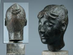 Bronze-Kopf einer jungen Frau
