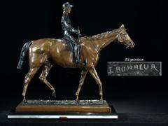 Bronzeskulptur eines Reiters