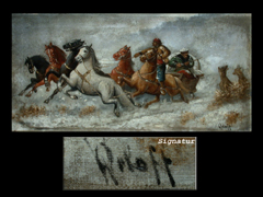 W. Orloff, Russischer Maler des 19. Jhdts.