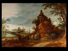 Frans de Momper, 1603 - 1660 und Hans Jordaens, 1595 - 1643, der im Bild die Figuren malte.