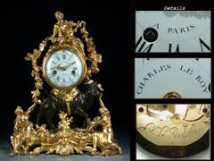 Hochbedeutende Louis XV-Pendule