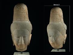 Khmer-Kopf eines Boddhisatva