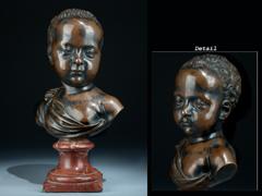 Kleine Bronzebüste eines Infanten - möglicherweise Henri II.