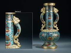 Feine Cloissonné-Vase der Ming-Dynastie