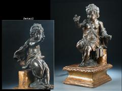 Bronzeskulptur des Jesusknaben