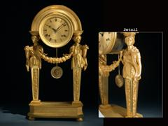 Wiener Empire Portal-Uhr Wohl von Meister A. Brändl oder Meister M. Wibral