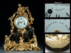 Detailabbildung:  Hochbedeutende Louis XV-Pendule