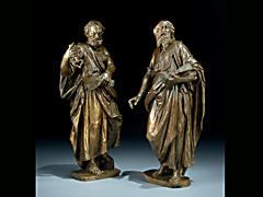 Zwei Figuren des Hl. Petrus und des Hl. Paulus in der Art von Hubert Gerhard 1540 - 1620 und Carlo di Cesare del Palagio 1540 - 1598