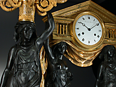 Detail images: Große Kamingarniturvom Meister Leonard Roussel