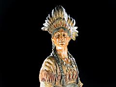Detailabbildung: Indianer aus Wiener Bronze