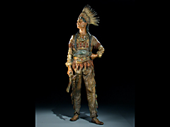 Indianer aus Wiener Bronze