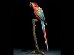 Papagei aus Wiener Bronze