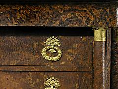 Detail images: Seltene Lack-Empire-Kommode