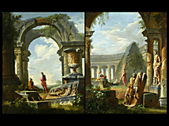 Detail images: Giovanni Paolo Panini 1691 Piacenza - 1765 Rom