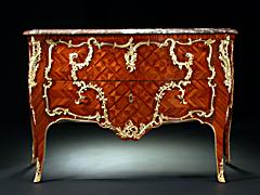Detailabbildung: Bedeutende Louis XV-Kommode des Pariser Meister Mathieu Criaerd