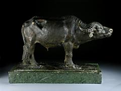 Detailabbildung: Bronze eines Wasserbüffels