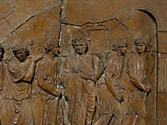 Detail images: Zwei Terrakotta-Tafeln nach den Reliefs im Durchgang des Titusbogens in Rom