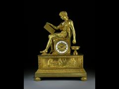 FRANZÖSISCHE KAMINUHR VON ALEXANDRE ETUDIANT EMPIRE, PARIS 1820