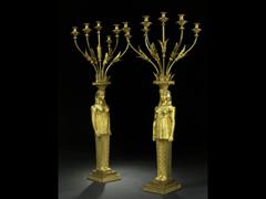 Paar Empire-Monumental-Karyatidengirandolen