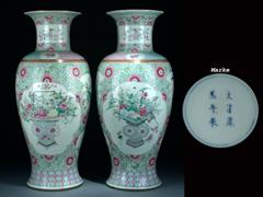 Paar große chinesische Vasen