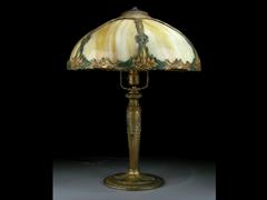 Jugendstil-Tischlampe von Edward Miller & Comp. Meriden/USA