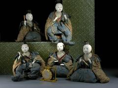 Japanische Puppengruppe