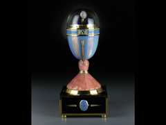 Tischuhr Im Stil der Eieruhren von Fabergé by Victor Mayer