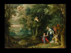 Jan Brueghel d.Ä.  1568 Brüssel - 1625 Antwerpen und  Hans Rottenhammer  1564 München - 1625 Augsburg