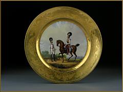 Russischer Porzellan-Teller St. Petersburg, Nicolaus I, 1828